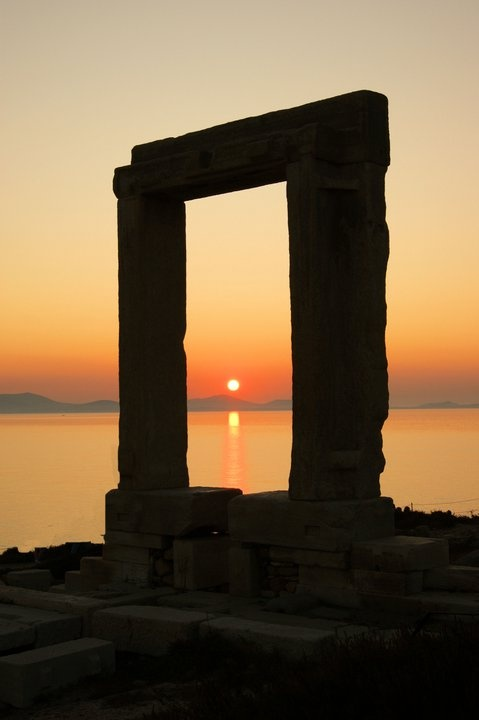 *Naxos Island, Greece, the entrance to the ancient world