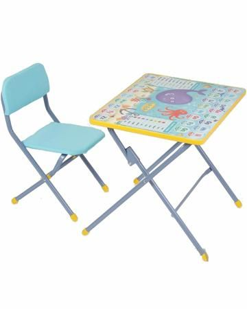 """ФЕЯ КОМПЛЕКТ  детской мебели """"Досуг №201""""  — 1648р. ------------ Детский мебельный комплект Фея Досуг 201, состоящий из складных стула и стола.   Это отличный вариант для меблировки небольшой детской комнаты. Складной механизм позволяет доставать их по мере необходимости, а после использования снова убирать на хранение, освобождая пространство.   За столиком удобно готовиться к занятиям в детском саду: рисовать, лепить, писать, складывать буквы и цифры. Внимание ребёнка привлечёт яркая…"""