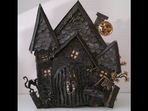 ▶ Gothic Halloween mini album for a friend Wild Orchid Crafts DT project - YouTube