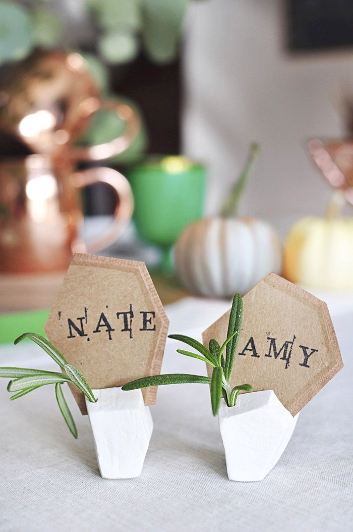 Geometric Tday Placecard Holder