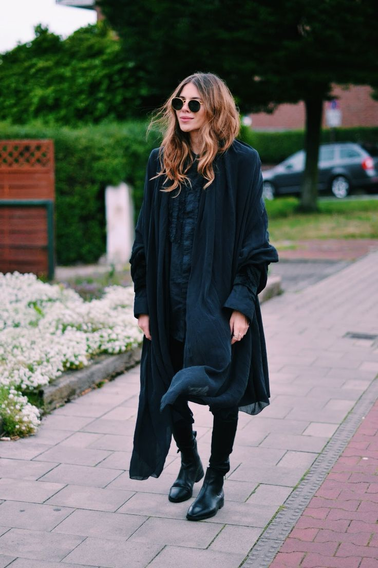 Shirt: Zara . Long Blazer: Laura Ashley . Leather Pants: H&M .  Silk Scarf : VYVYN Hill by Maja