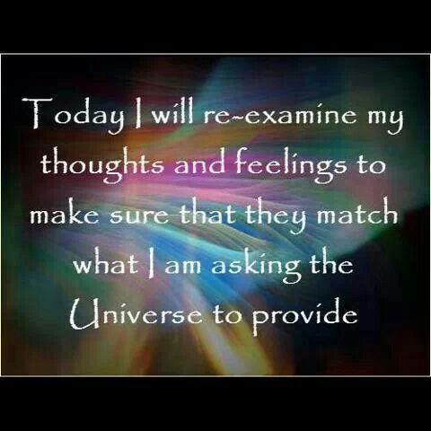 both conscious and unconscious thoughts and feelings and i will feed my consciousness what it needs to match.