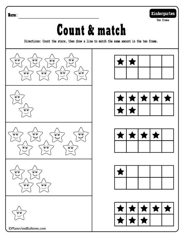 Ten frame worksheets for early math learners. Free