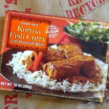 トレジョ 白身魚のフィッシュカレー Trader Joe's Korma Fish Curry   冷凍食品
