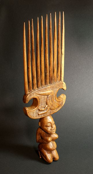 Africa | Comb from the Senufo people of the Ivory Coast | Wood | Mid 1900s.