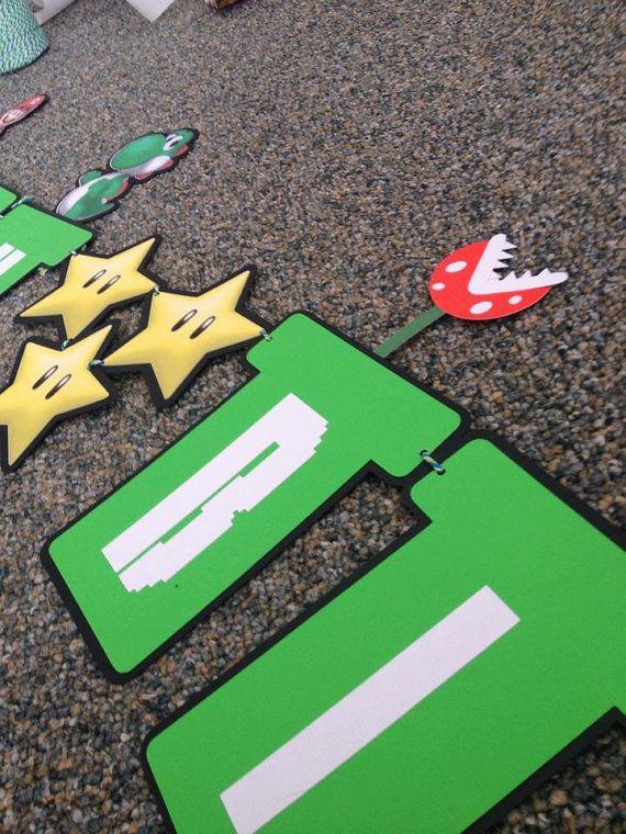Mario Bros Birthday Banner by VTcraftypaper on Etsy