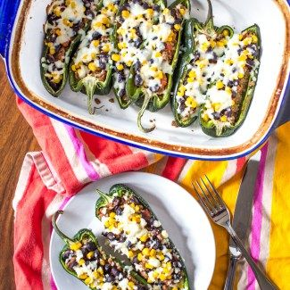 This recipe for Beef Stuffed Poblano Peppers comes together with under 30 minutes of active preparation time, and it yields enough food to serve at least 5 people. It's a great weeknight meal. Poblano peppers are sliced in half and then stuffed with cooked quinoa, ground beef, black beans, corn, and cheese. It's so easy! One  (read more)