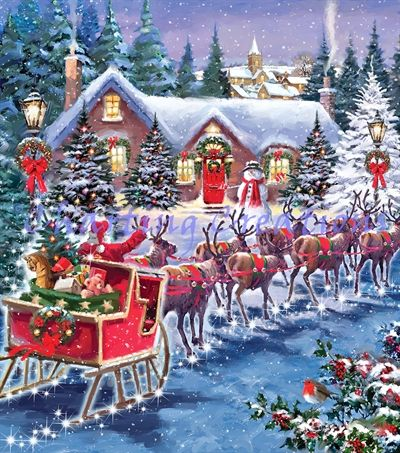 Santa And Sleigh Large