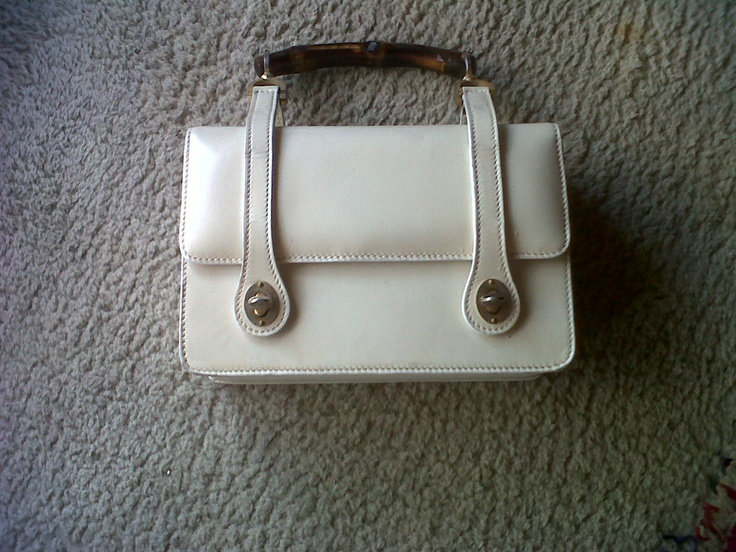 50s Gucci trunk bag with nice bamboo handle