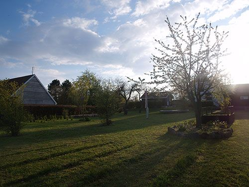 Fritids hus til salg på Samsø med flot have