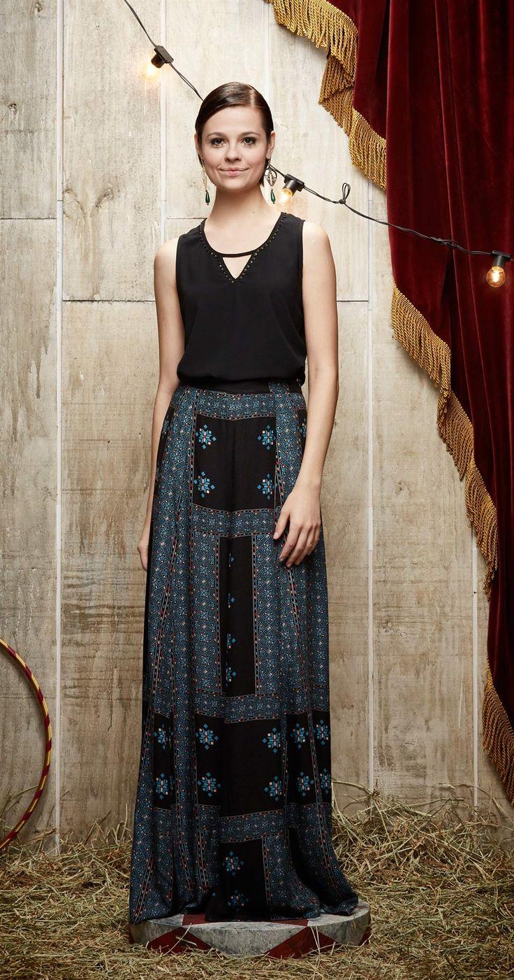 Saia Longa Rose | Vestuário | Antix Store