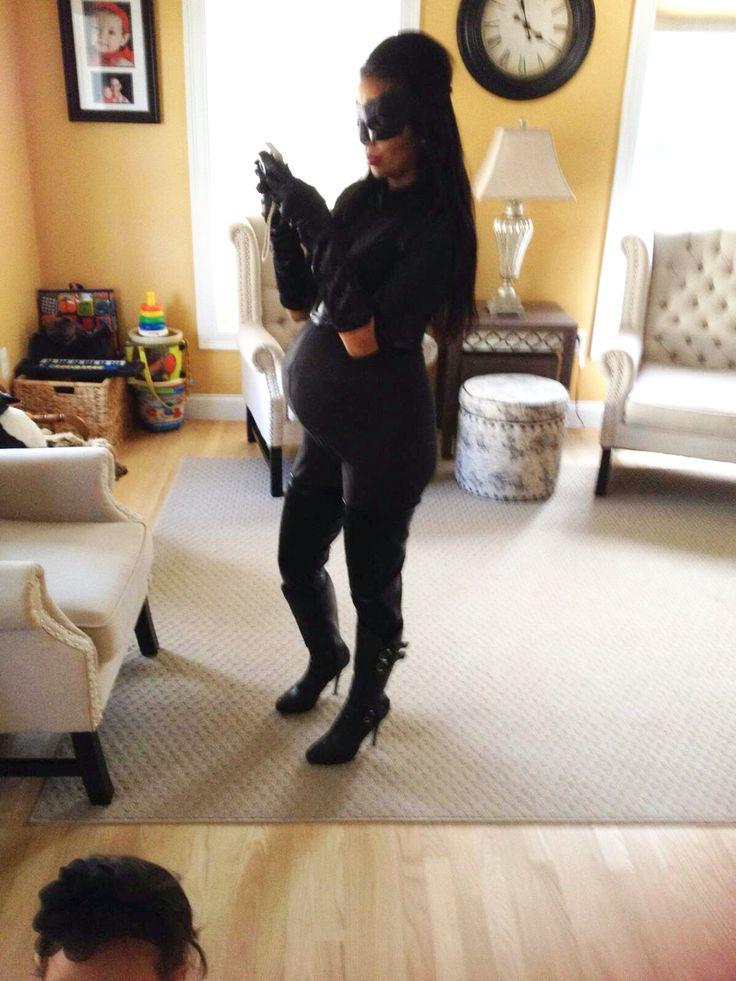 33 Weeks pregnant #Halloween #catwoman #maternity | My ...