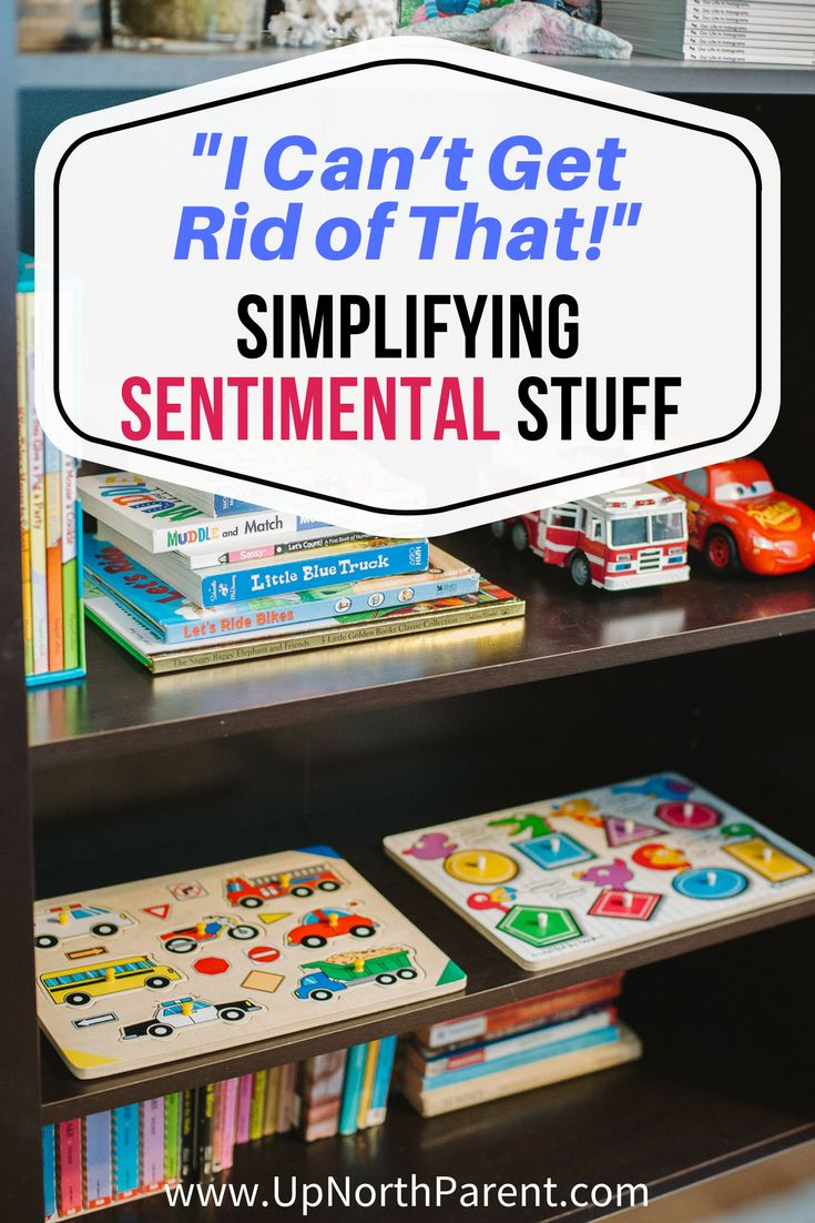"Every home has sentimental stuff that threatens simplicity. If your meaningful, sentimental possessions have you saying ""I can't get rid of that!"", here are some ideas for ways to repurpose, remember and honor them. #simplify #declutter #simplicity #decluttering"