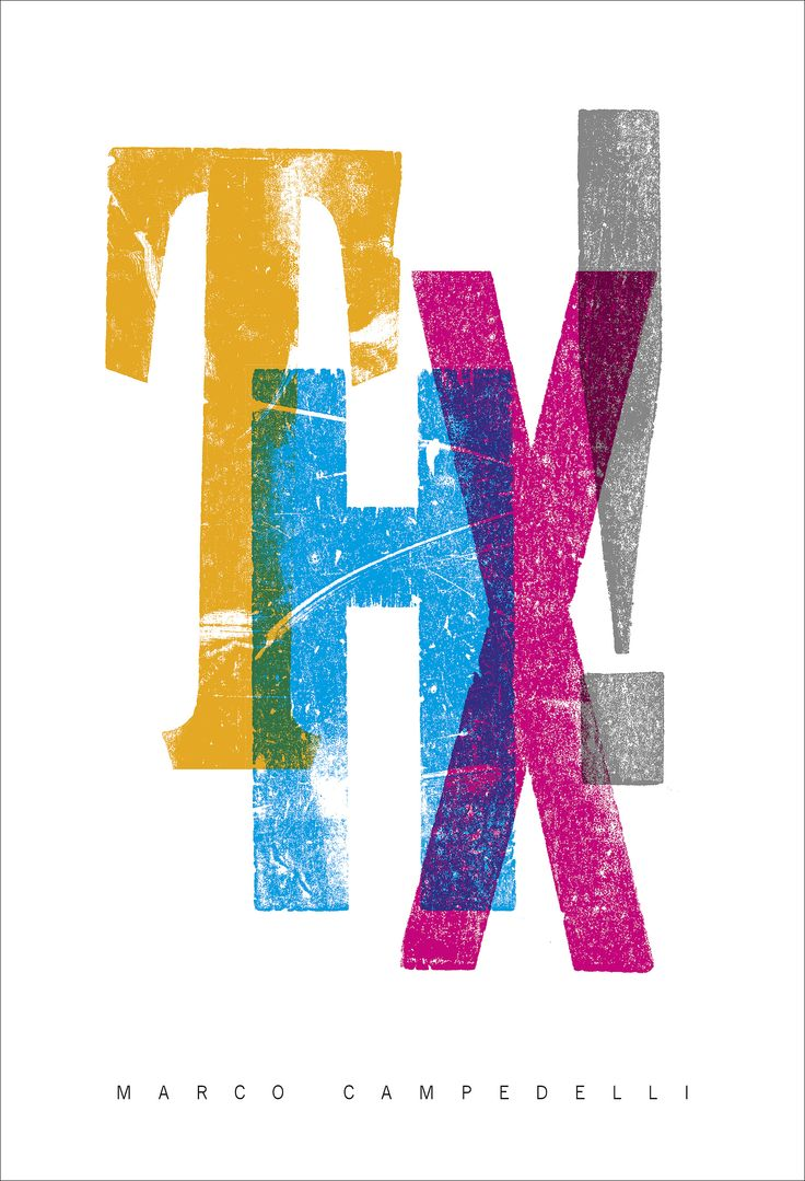 THK! 2014 © Marco Campedelli #letterpress #woodtype #artwork #thanks #composition #marcocampedelli