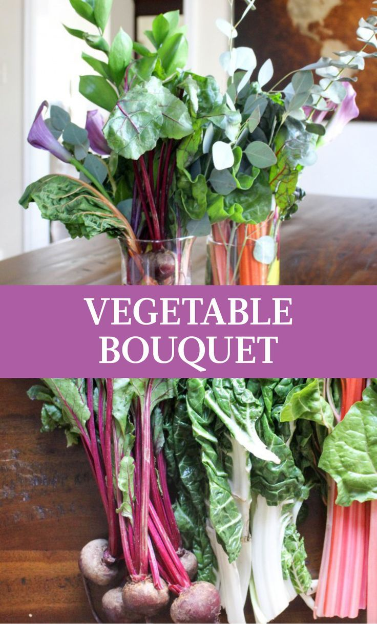 How to Make a Bouquet...Out of Vegetables | Martha Stewart Living - Sometimes the best spring decorations are the simplest. The natural vibrant colors in a fresh arrangement made from vegetables can create an incredibly lively spring centerpiece for your home.