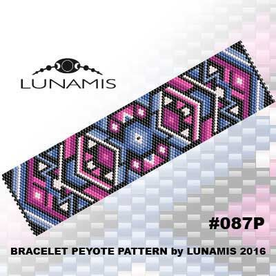 Peyote bracelet pattern odd count peyote by LunamisBeadsPatterns