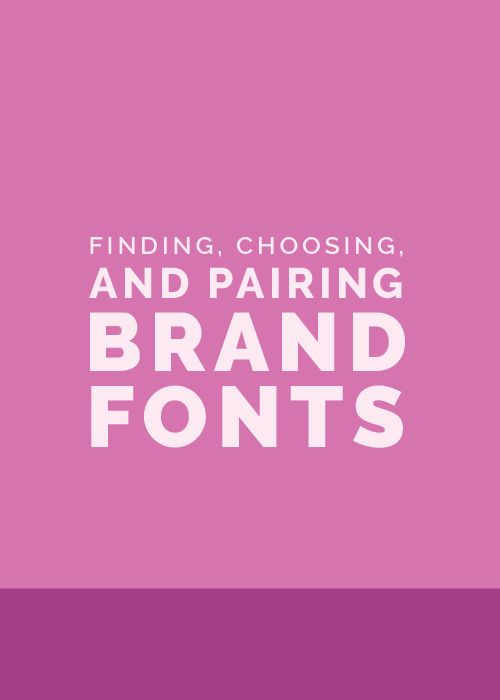 "There are a couple designer secrets that aren't often shared when it comes  to choosing brand fonts.  The first: Steer clear of using your logo font throughout the rest of your  brand (unless it's a secondary font that you've used for your tagline).  This makes the logo distinct and keeps it from getting lost among other  text on your website and collateral items.  The second: Give each brand font a ""job."" Choose one font for your headers,  one font for your body text, and maybe one other…"