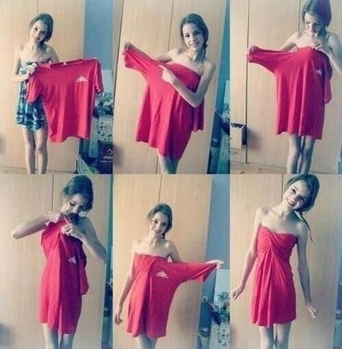 How to turn a shirt into a dress