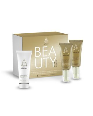 Alpha-H Beauty By Day, Beauty By Night -  This exclusive collection combines the latest in peptide technology, glycolic acid and active ingredients to restore a youthful glow to your complexion both morning and night. Liquid Gold Perfecting Daywear has been designed to keep the complexion looking fresh, dewy and flawless all day long.  The Liquid Gold Intensive Night Repair Serum will restore suppleness and elasticity while the velvety Liquid Gold Rejuvenating Cream enhances lacklustre skin.
