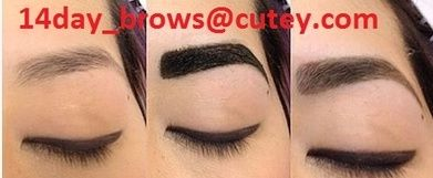 Henna eyebrows, better than tattoo stays up to week and regrow your hair and looks really nice