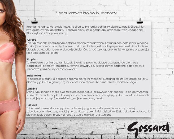 types of bra, rodzaje staników
