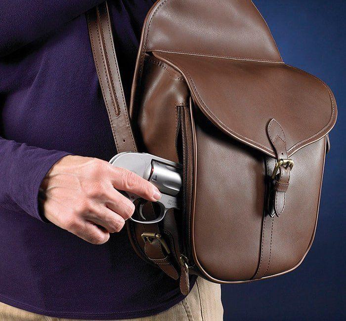 Women's  SHOULDER SADDLE BAG MOCHA BROWN  gun toten mamas Concealed Carry #GunTotenMamas #ShoulderBag