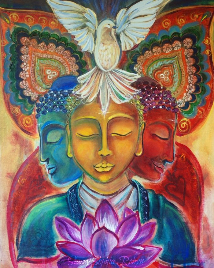 Framelessoil Paintings Canvas Colorful Buddha Sitting Wall: 17 Best Images About Buddha Artwork On Pinterest