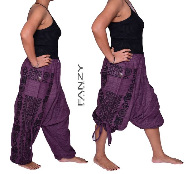 Cozy hippie pants from fanzydesign.com. Harem pants and hippie clothes.