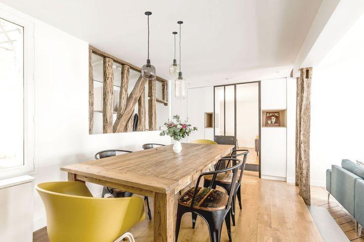 Un appartamento parigino dai colori pastello