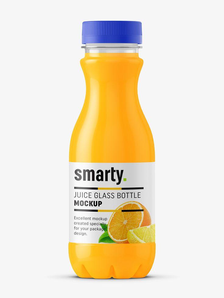 Plastic bottle juice mockup