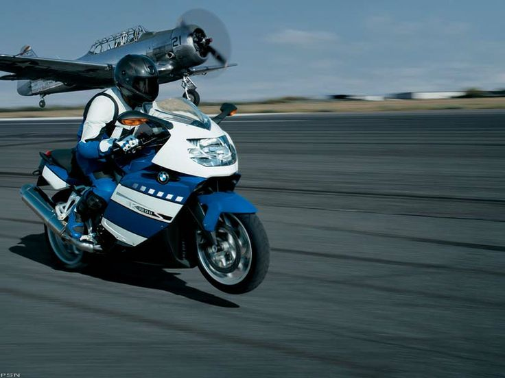 Bike vs. Plane , BMW K1200S Motorcycle , gray , http://www.PashnitMoto.com #bmw #motorcycle #k1200s