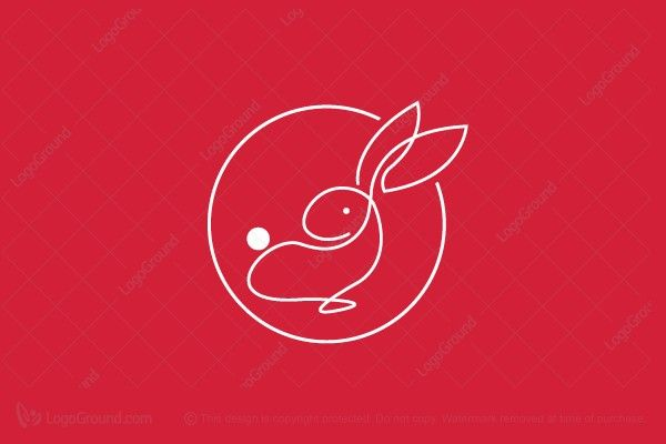 Logo for sale: One Line Rabbit Logo
