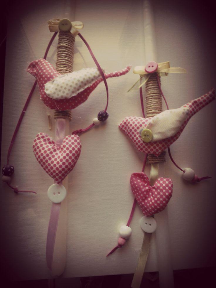 heart-bird candle,made for easter bazaar ''people with special need south crete''-προσφορά στο πασχαλινό μπαζάρ ΑΜΕΑ νότιας Κρήτης ''ΤΟ ΜΕΛΛΟΝ''