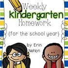 This product was created to coordinate with my district's use of Harcourt Storytown and EnVision Math Kindergarten Curriculum.  This homework packe...