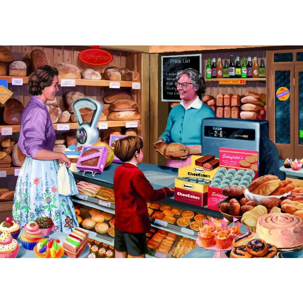Mrs Cromptons Bakery - 1000pc jigsaw puzzle