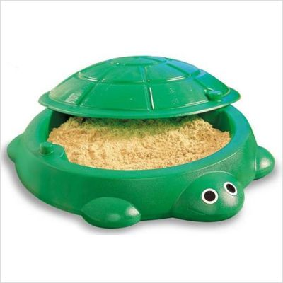 turtle sandbox - my sister and I used to play in here all the time...even with the lid on sometimes
