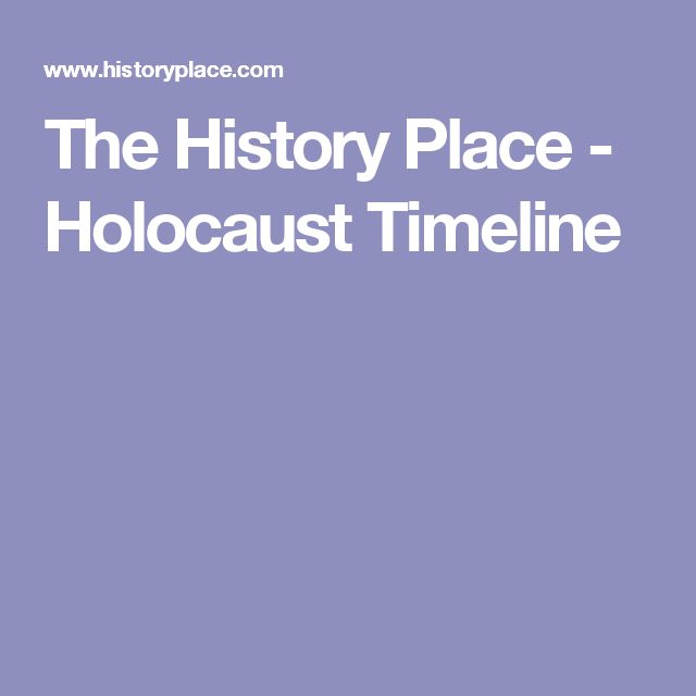 The History Place - Holocaust Timeline