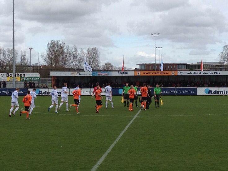 Opkomst bij het Topklasse duel tussen Katwijk en FC Lisse.  Foto: Twitter/@vvKatwijk