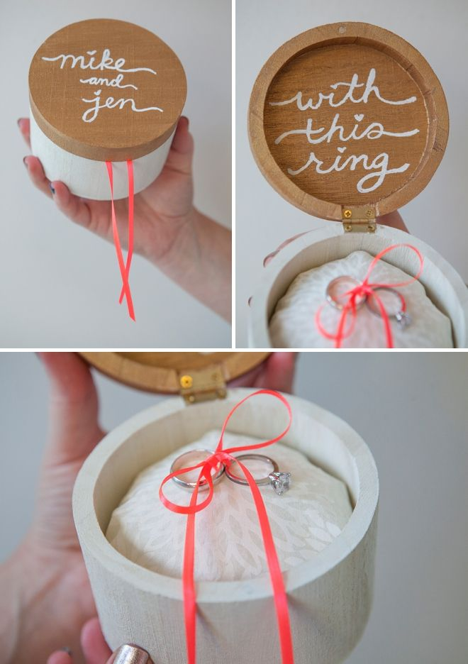 "DIY Wedding - How to make this darling ""wooden ring bearer pillow box""!"