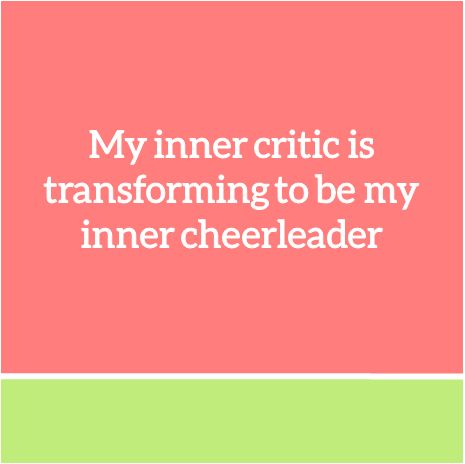 #quotesaboutpositivethinking http://www.positivewordsthatstartwith.com/   My inner critic is transforming to be my inner cheerleader. Affirmations for Women Business Owners from Coach Erin #ecoacherin #positivity