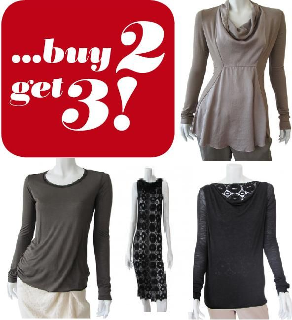 Valentinetine's day special offer, buy 2 choose third one free and 20% discount on women's clothing. #Clothing #Shopping
