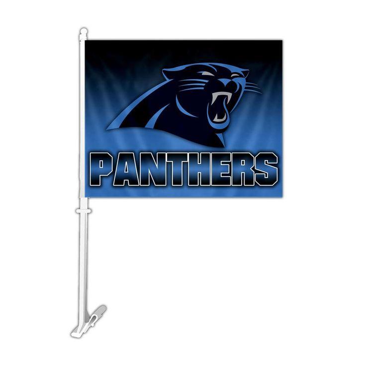 Carolina Panthers Team Logo Car Flag