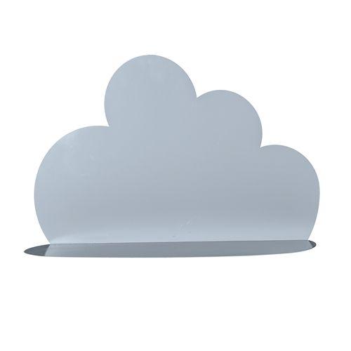 Металлическая полка Bloomingville в виде облака, голубая