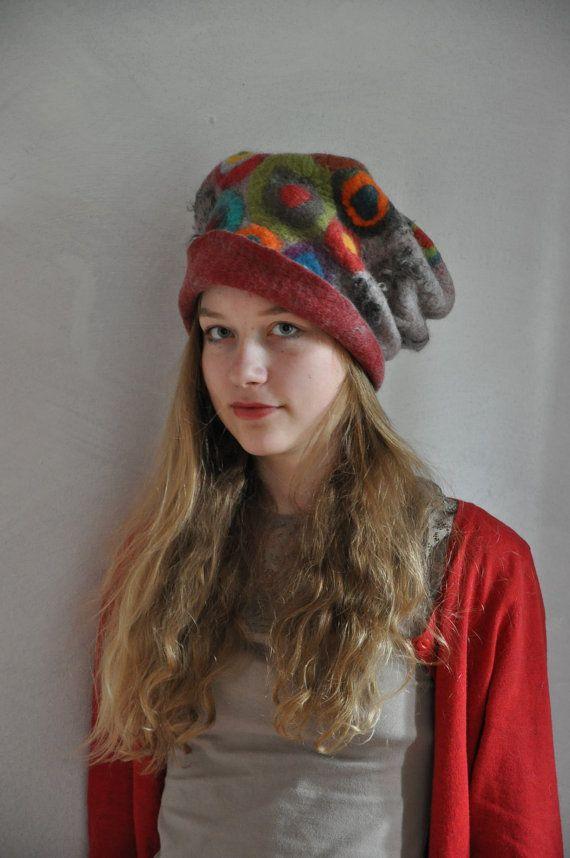 ein toller skulpturaler Hut in Gr.57/58 von feltforcat auf Etsy, $129.00