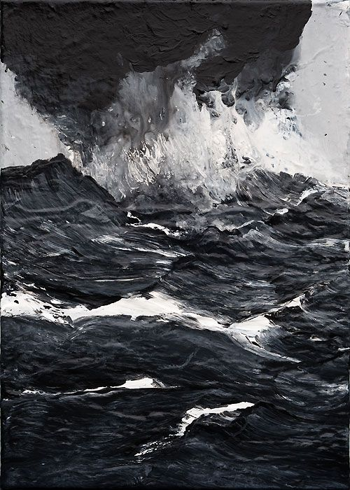 The sea happens to be the most peaceful and most dangerous place. But natural it is such a lovely painting that shows the black color the sea. The Black Sea. #SeaPainting #ArtWork