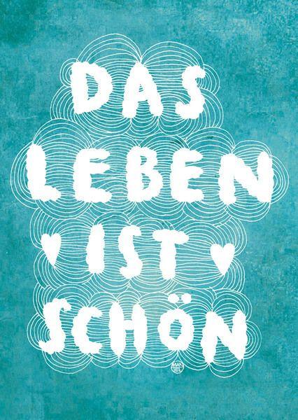 "Postkarte Larifari Das Leben ist schön // postcard ""life is beautiful"" by LarifariLaden via dawanda.com"