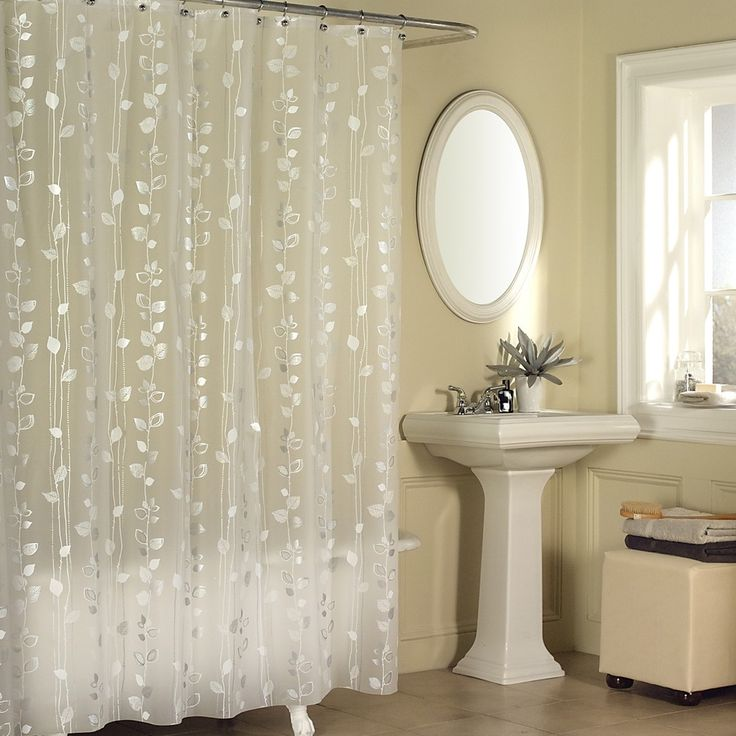 Transform Your Bathroom Into A Botanical Paradise With This Ivy Patterned Shower Curtain Made