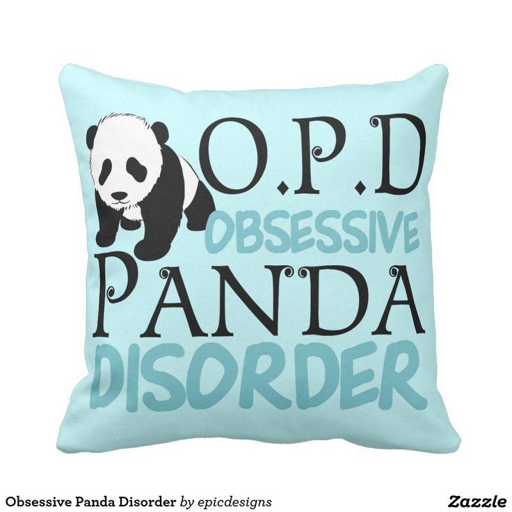 Obsessive Panda Disorder Throw Pillow