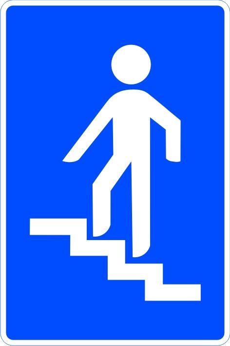 Señal paso superior para peatones