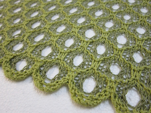"""Honeycomb Shadow Lace"" by Jackie Erickson-Schweitzer (via Ravelry)"